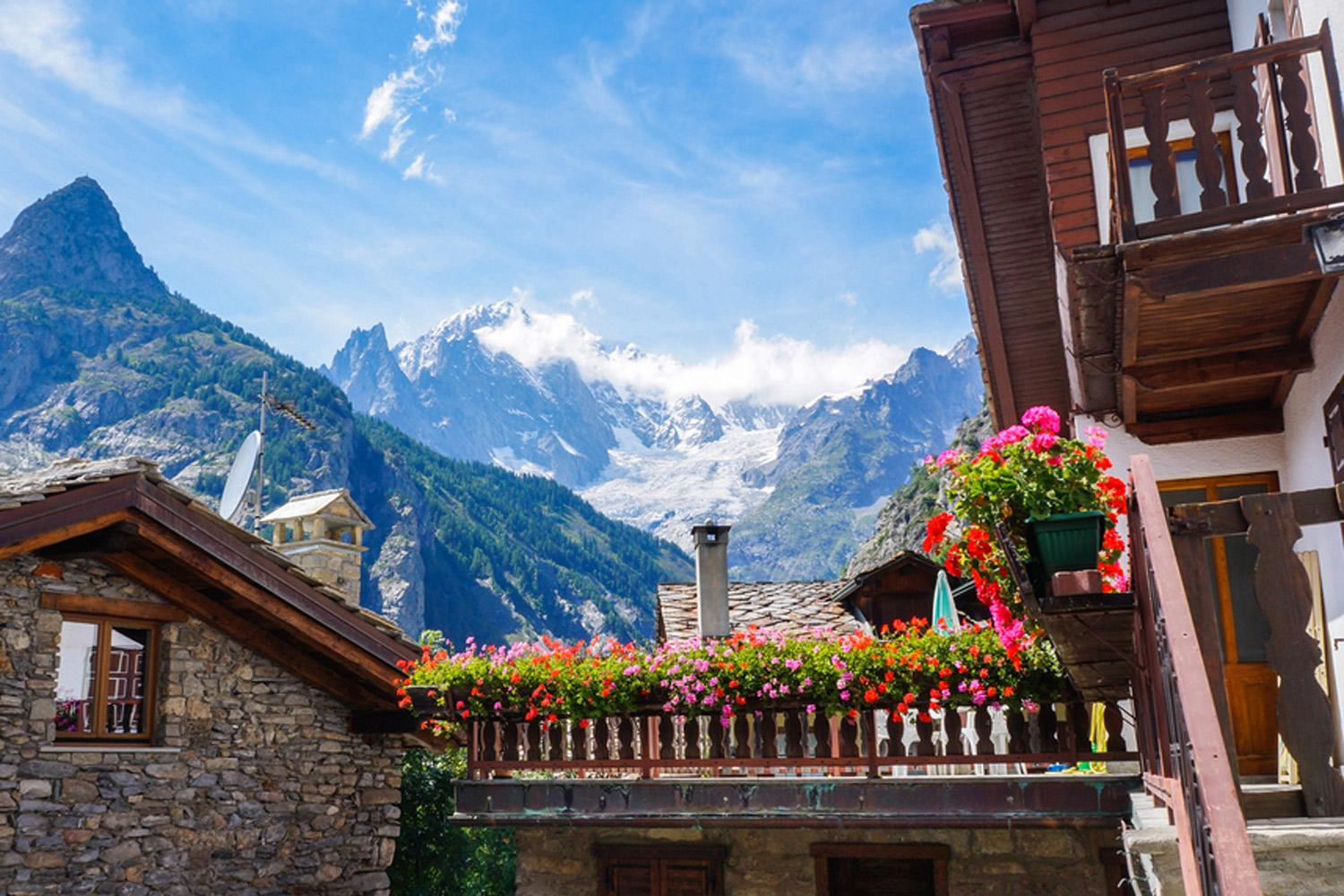 Great views from Courmayeur