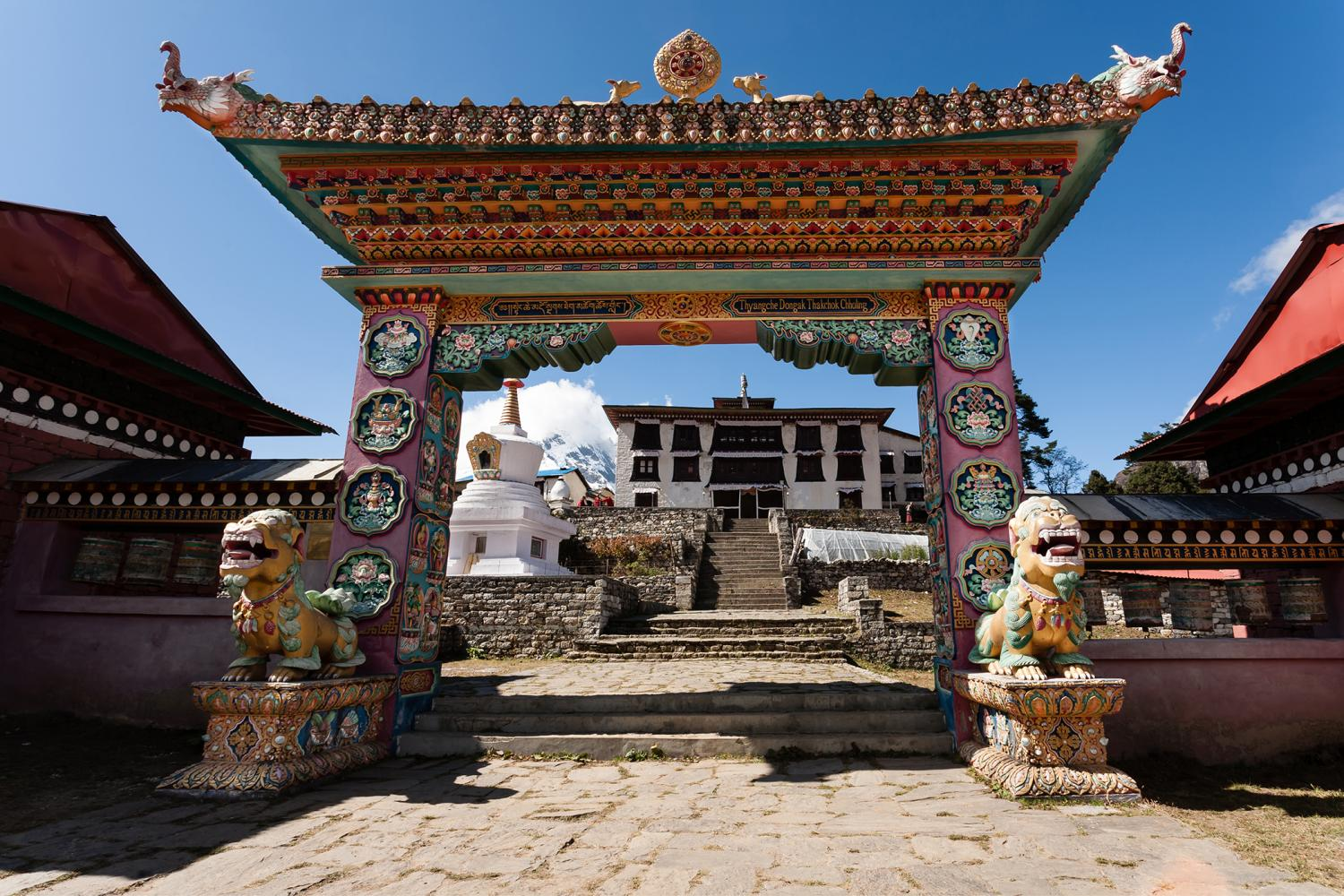 A Glimpse of Everest - Tengboche monastery