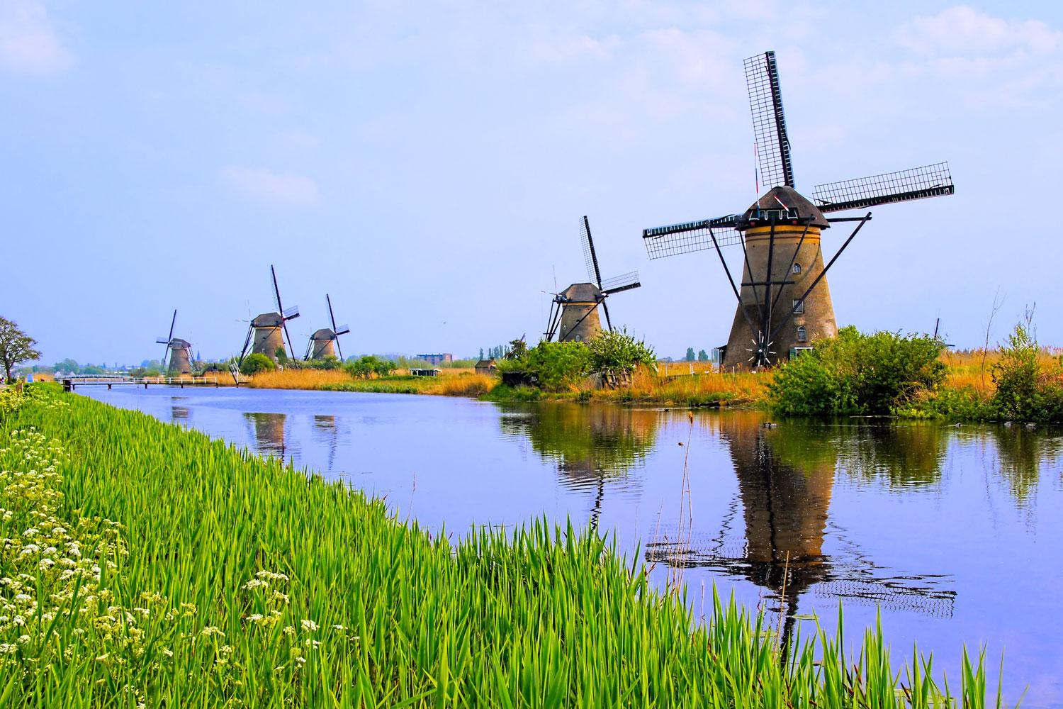 Kinderdijk Windmills, a UNESCO World Heritage Site
