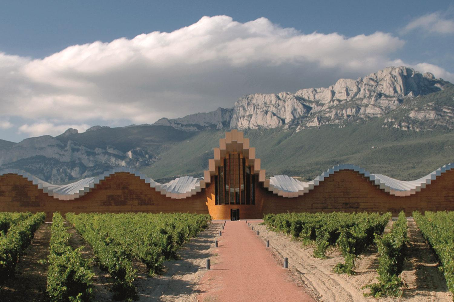 Cycle between architect-designed wineries, such as Ysios in Laguardia