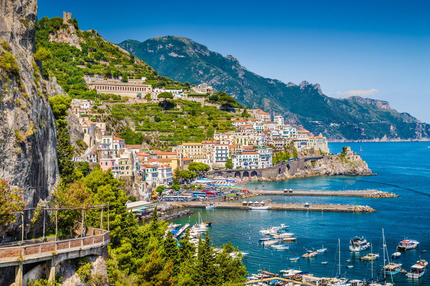 Stay your first two nights in lovely Amalfi town