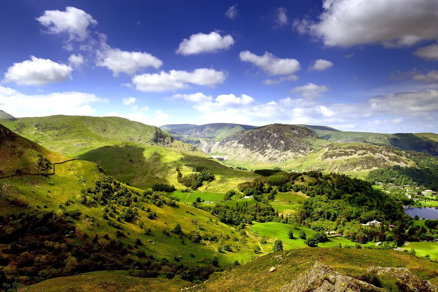 Glorious views over Patterdale