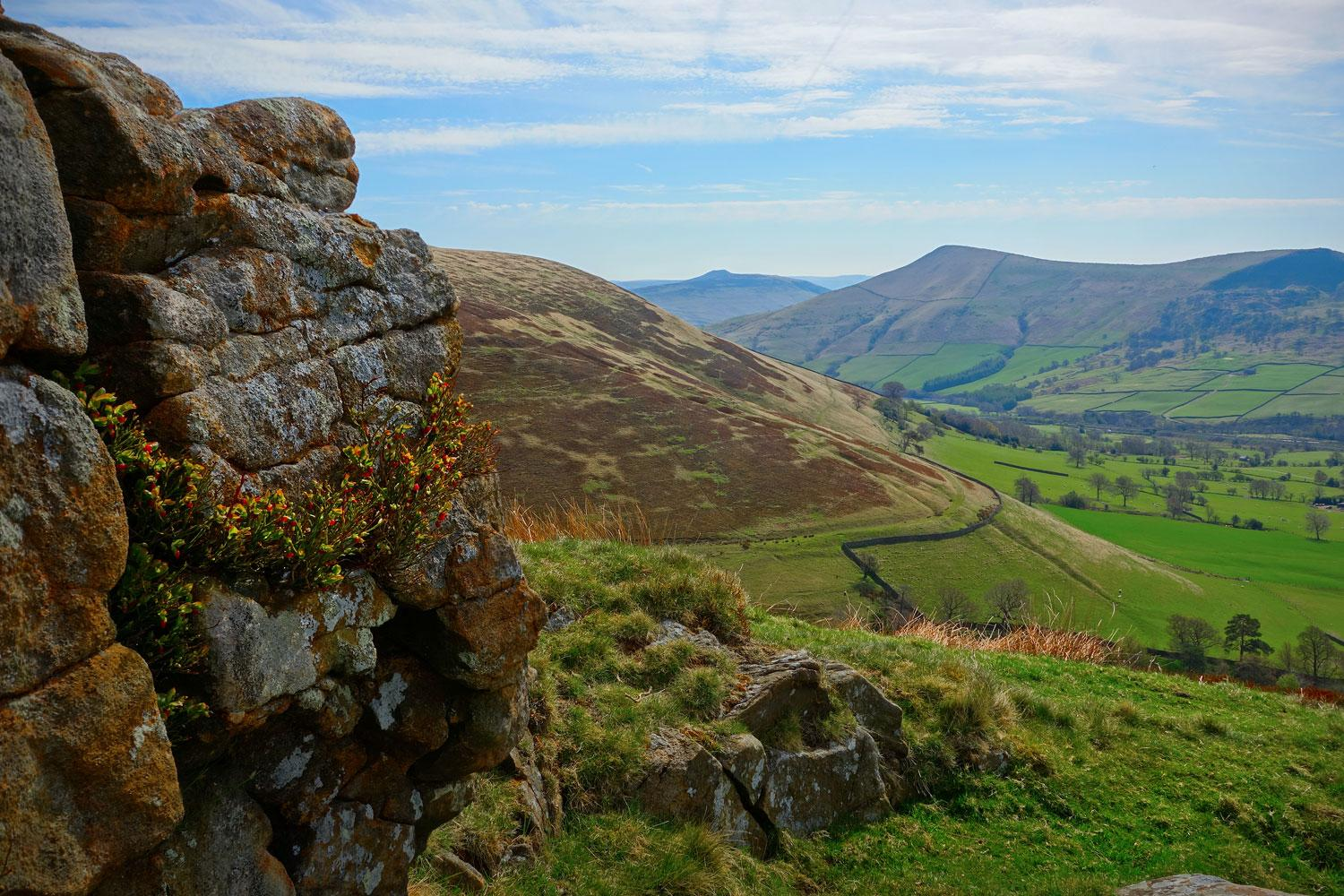 Dramatic countryside surrounding Edale