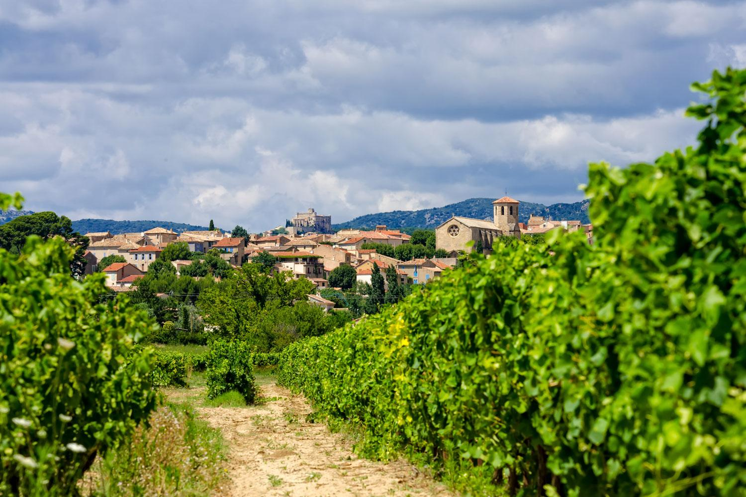 Hill top villages and vineyards in the Luberon and the Vaucluse