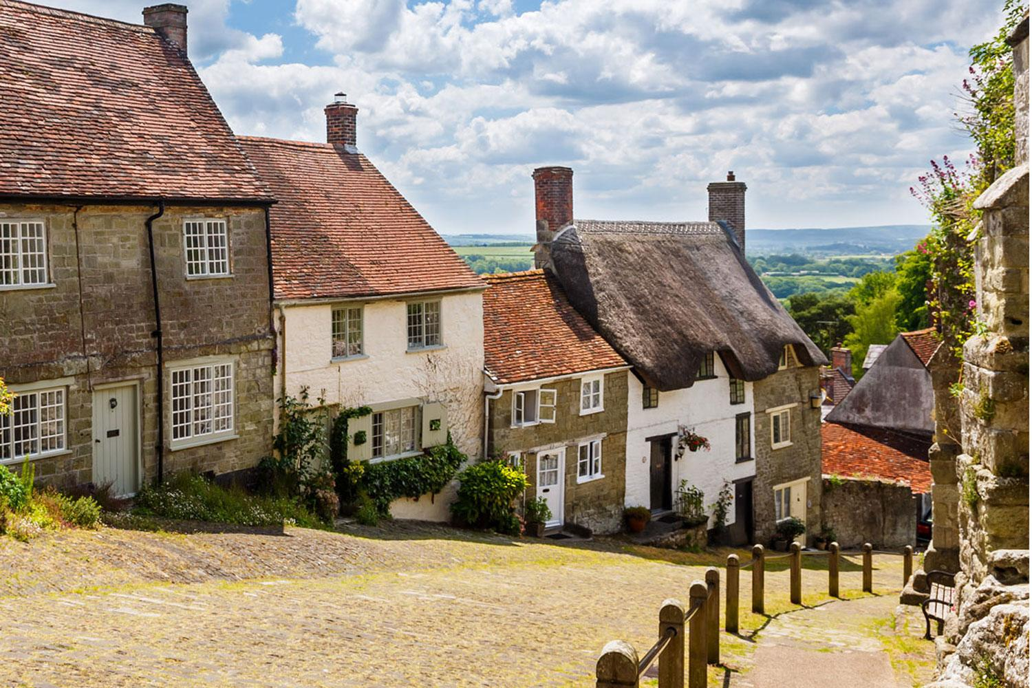 Gold Hill in the historic town of Shaftesbury