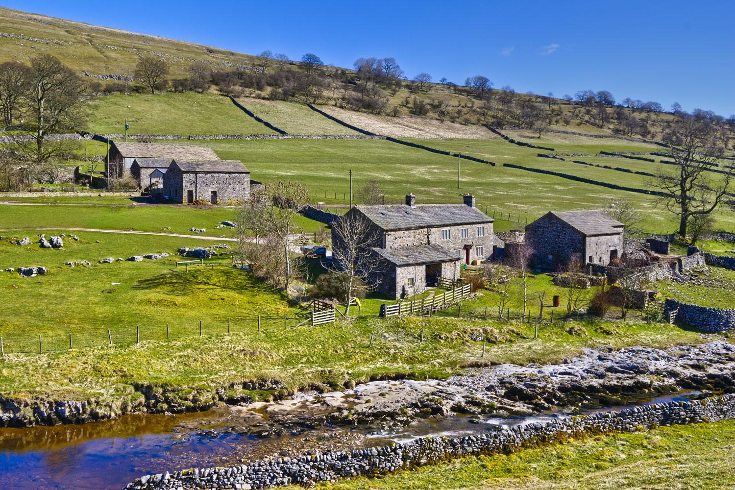 Typical Yorkshire Dales scenery in Wharfedale