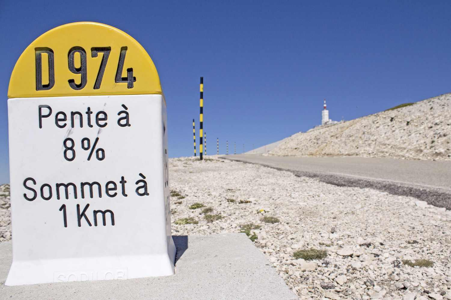 Relentless gradient of Mont Ventoux
