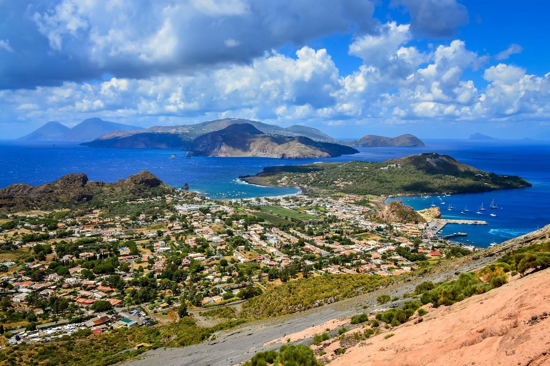View of Aeolian Islands from Lipari