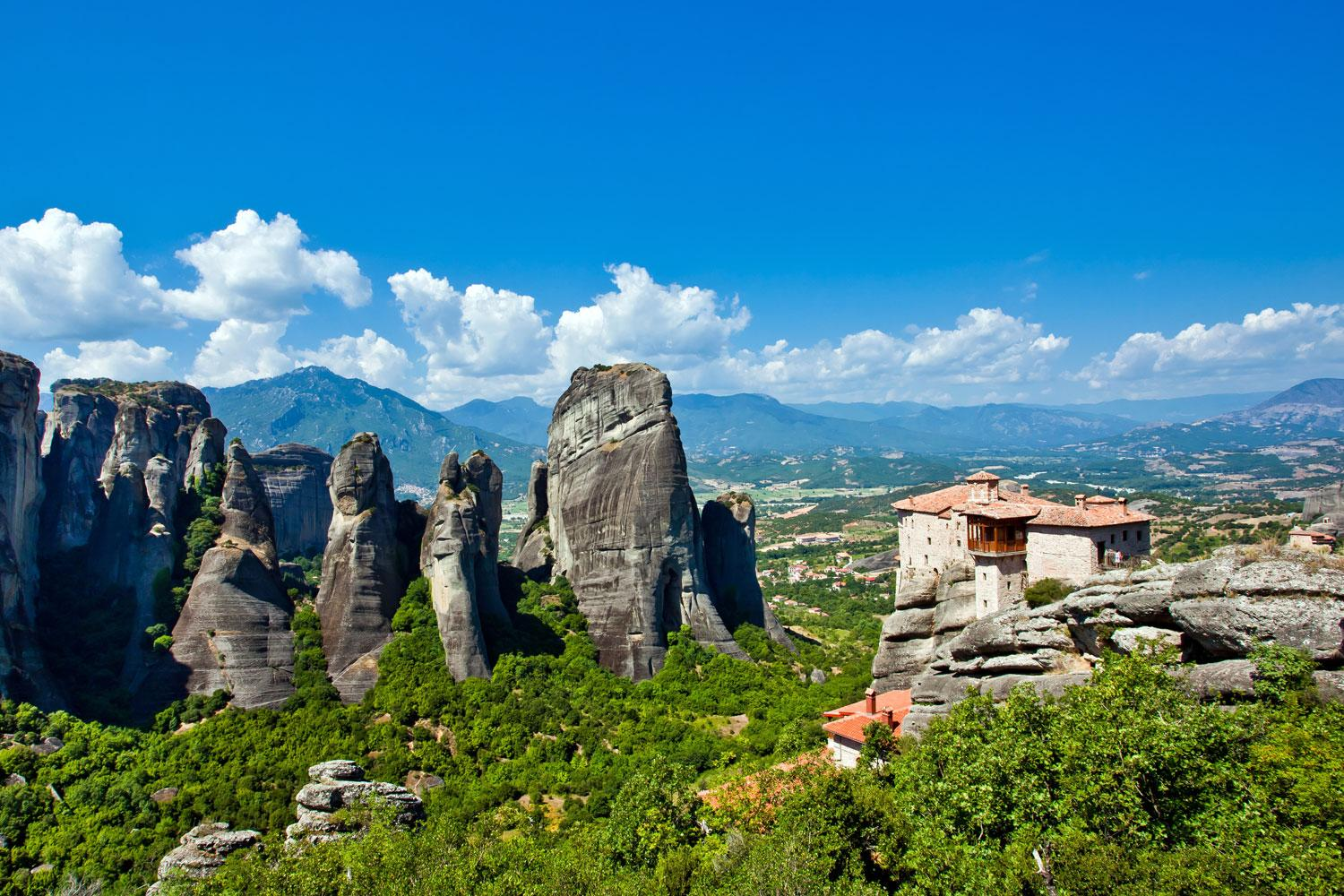 Sublime views over the Meteora,  a UNESCO World Heritage Site