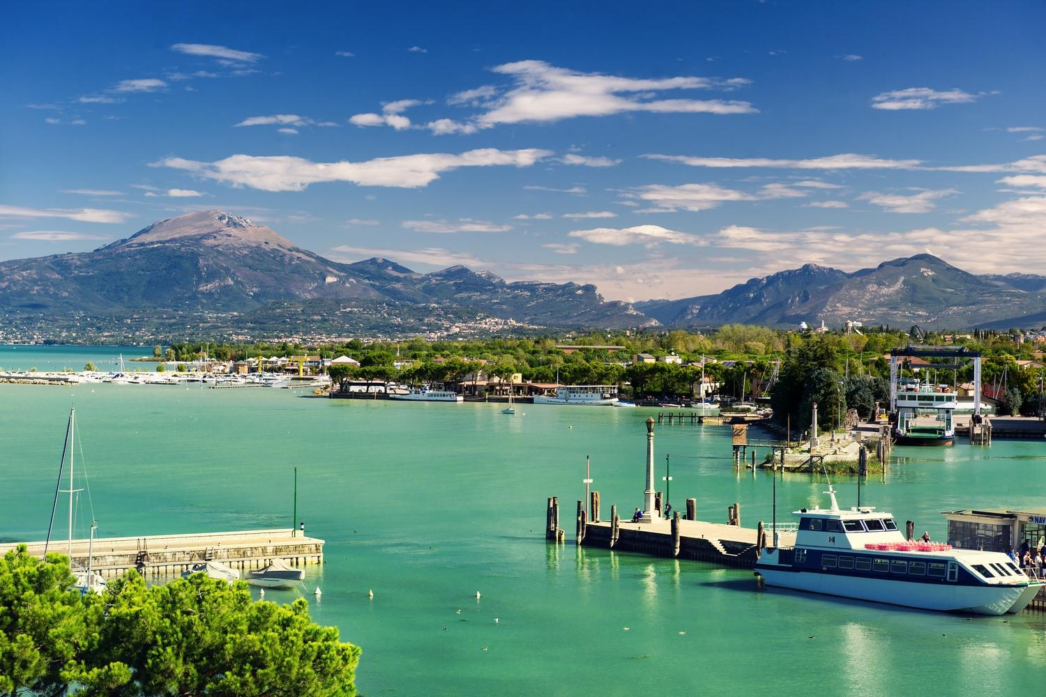 Views of Lake Garda from Peschiera del Garda
