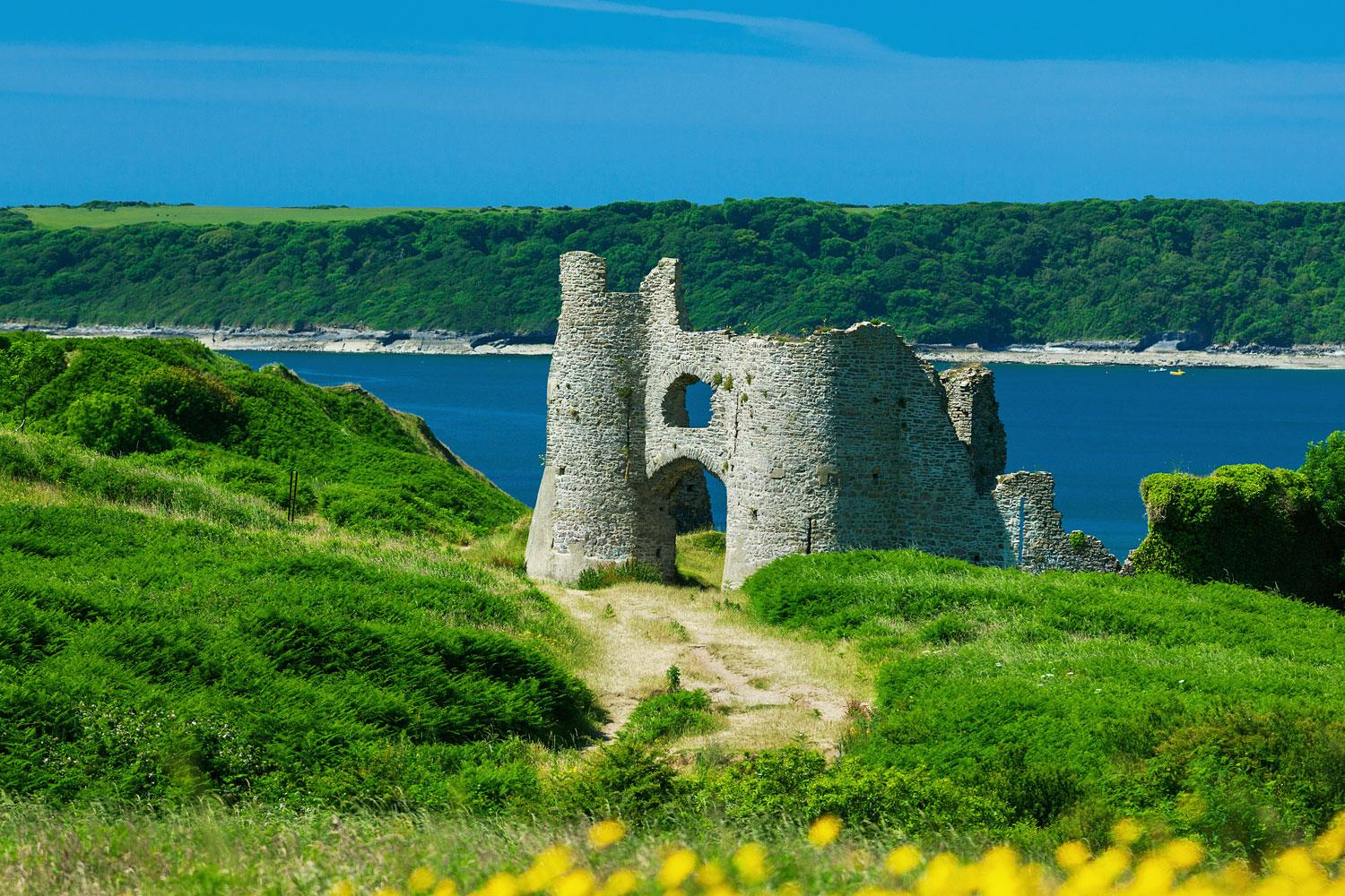 The remains of Pennard Castle