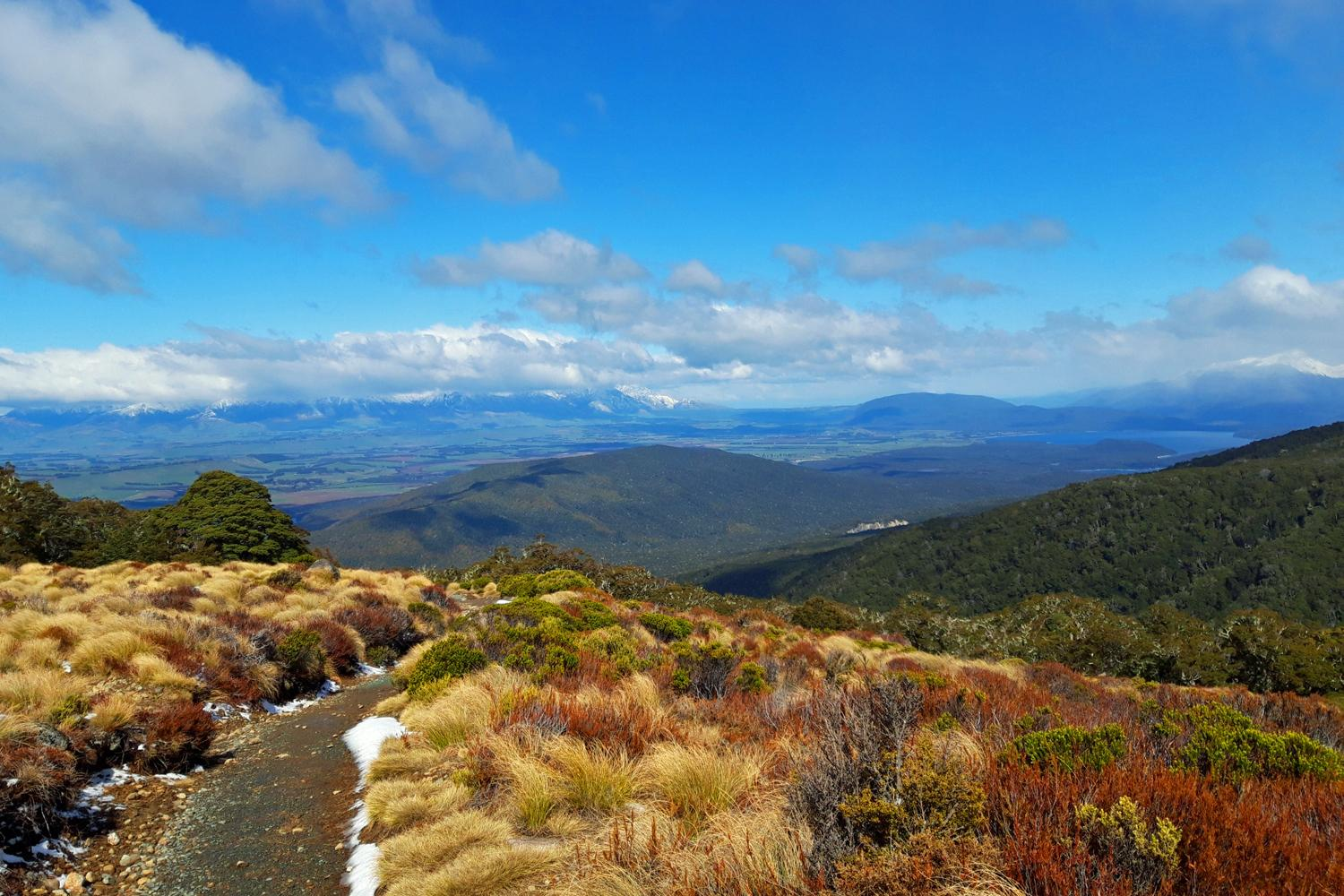Views on the way up to Luxmore Hut