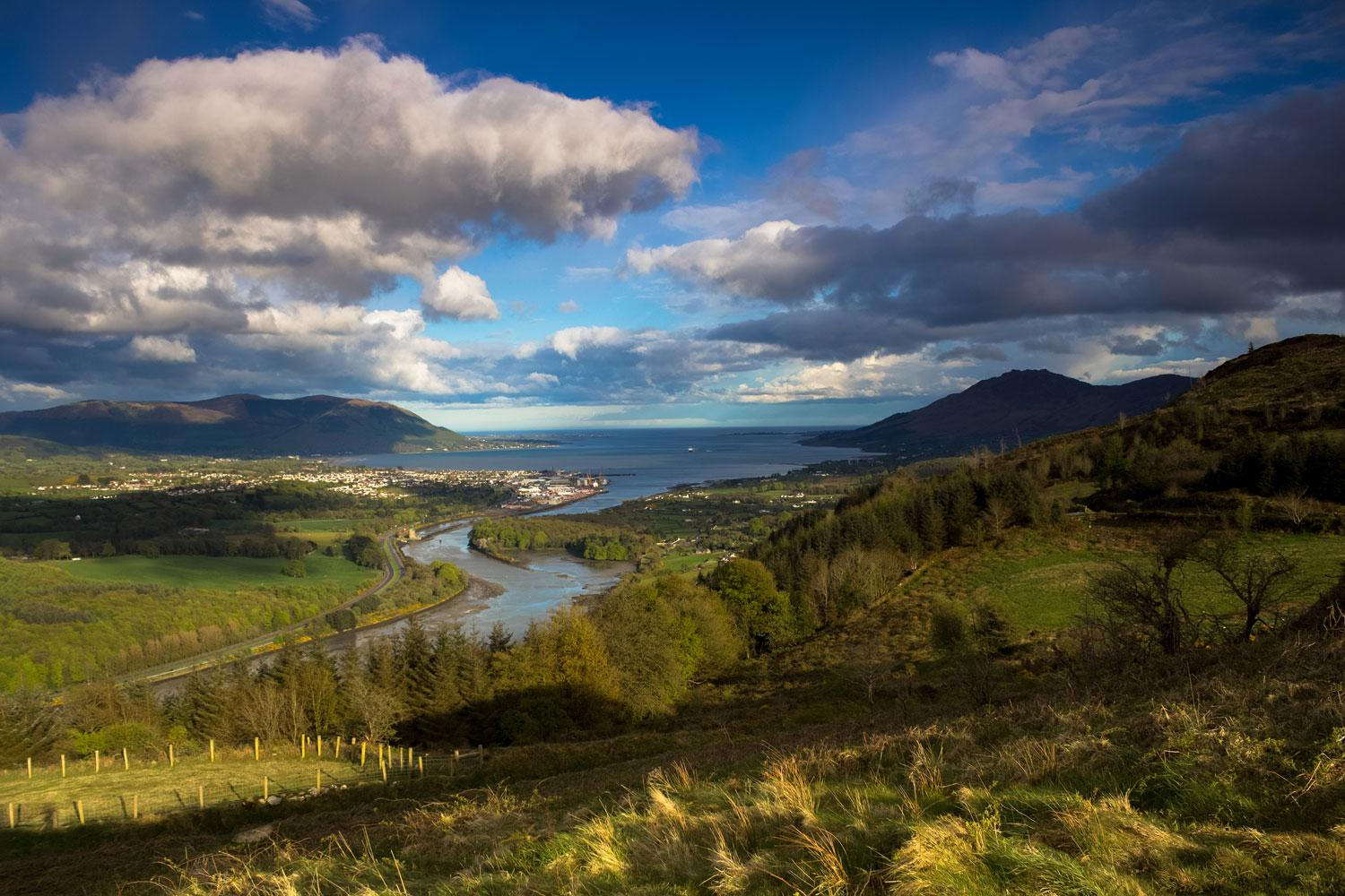 Views over Carlingford Lough and the Mourne and Cooley Mountains