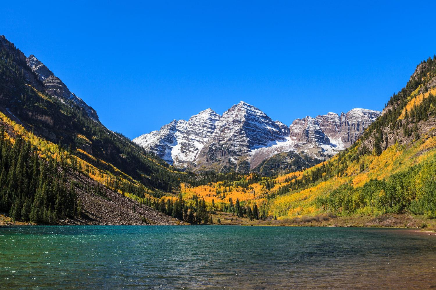 Marvel at Aspen's Maroon Bells and Crater Lake, two of Colorado's most iconic landmarks