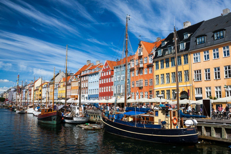 Colourful streets of Nyhaven, Copenhagen