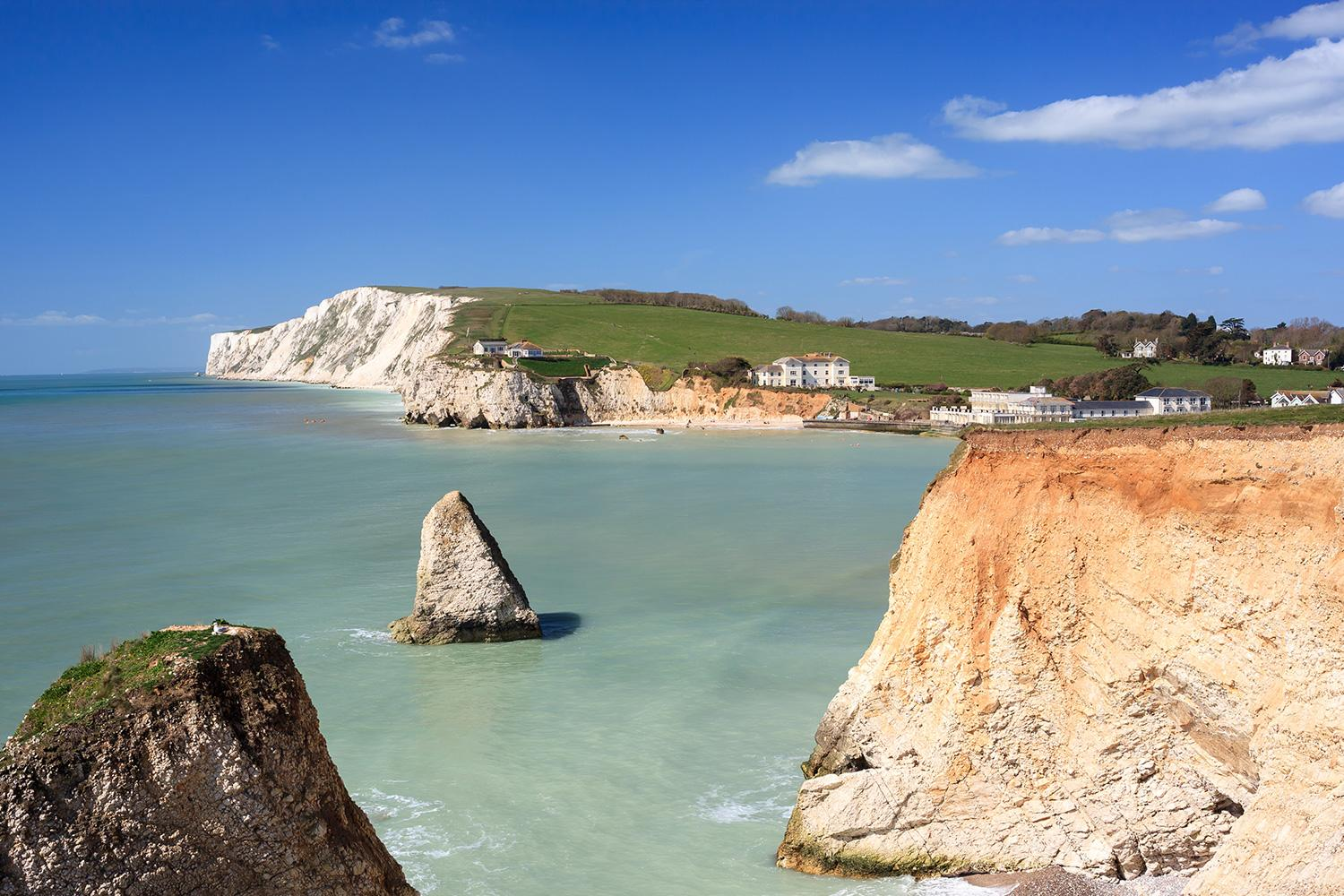 Freshwater Bay on the Isle of Wight coast