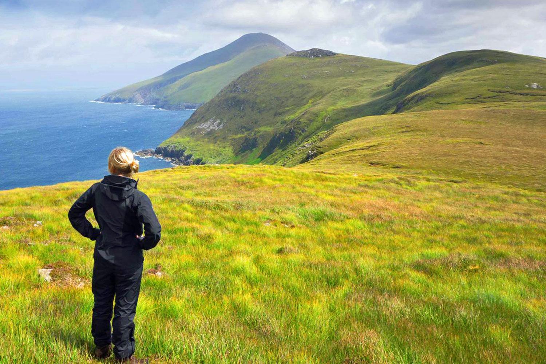 Amazing views over the Dingle Peninsula as you walk