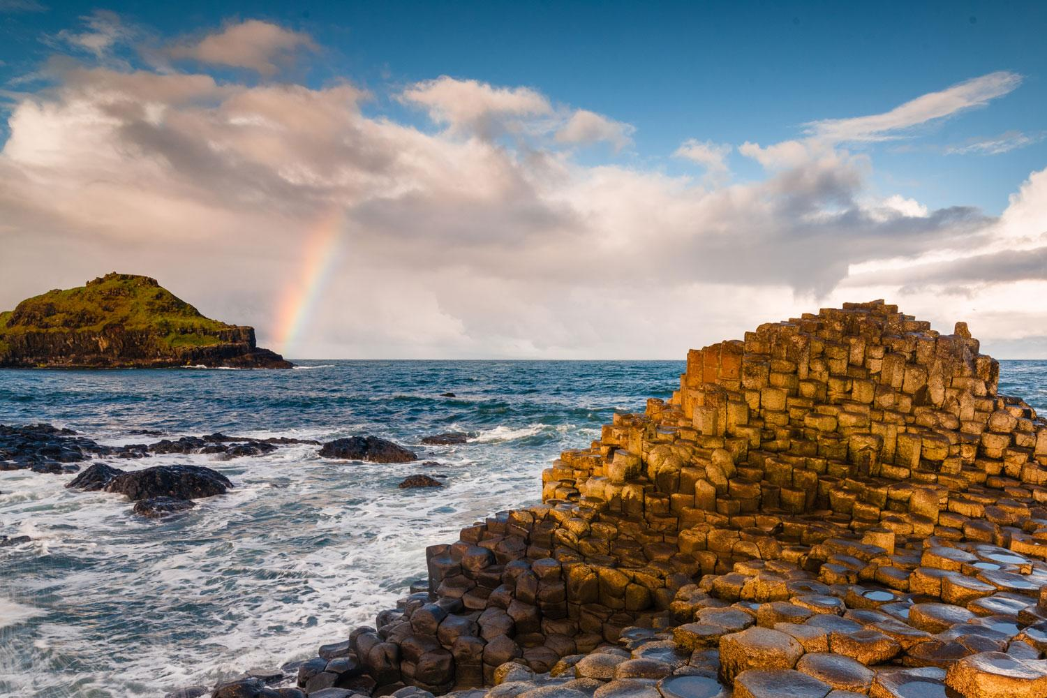 The Giant's Causeway and a rainbow!