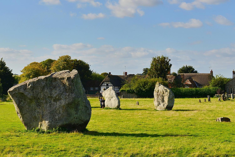 Avebury standing stones, the Ridgeway