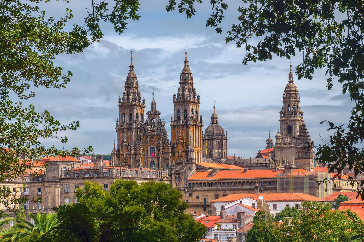 Santiago de Compostela Cathedral at the end of the French Way