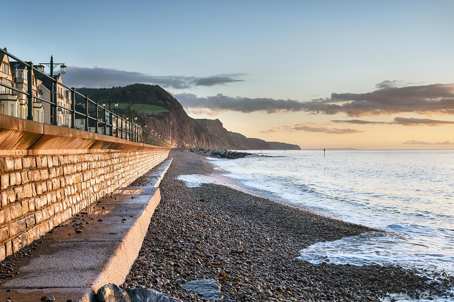 Sidmouth on the South West Coast Path