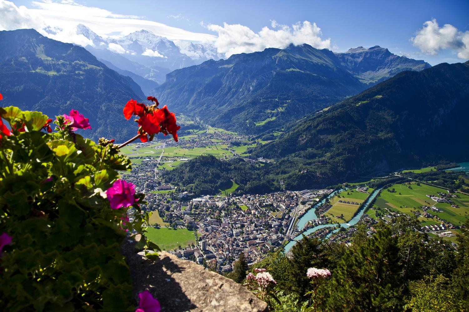 The view to Interlaken