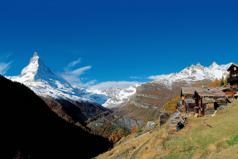 The towering peak of the Matterhorn