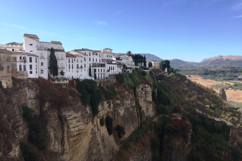 Escapada en Ronda. Vista del puente desde las afueras