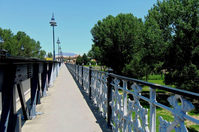 Escapada en Logroño - vistas del puente sobre el Ebro