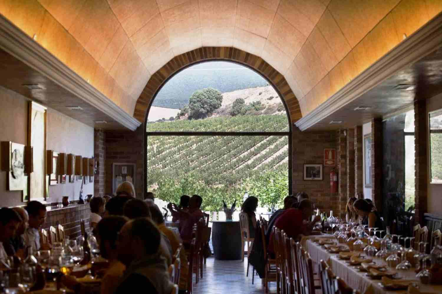 Eat a in a beautiful winery in Laguardia