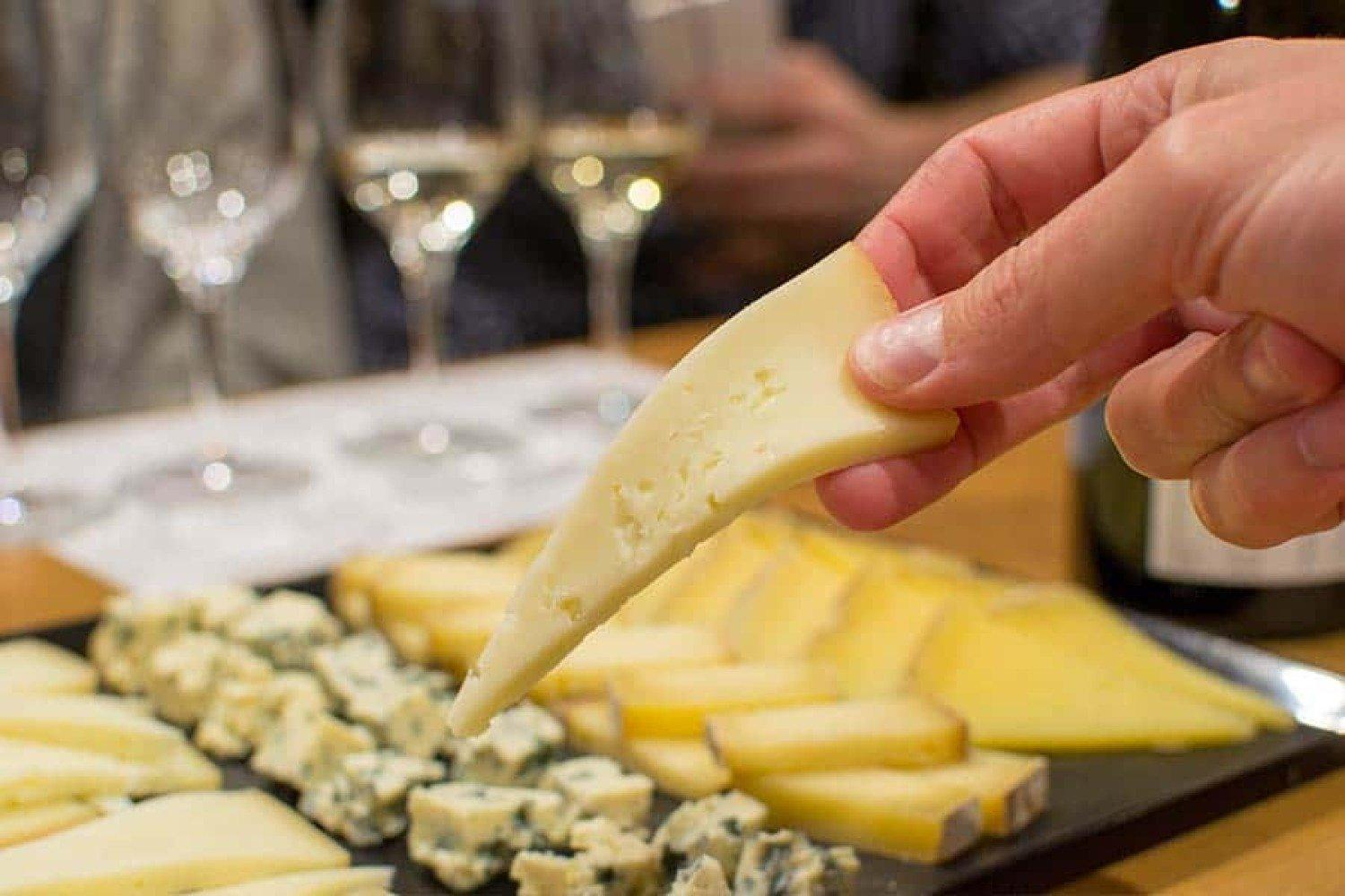 Wine and cheese tasting session