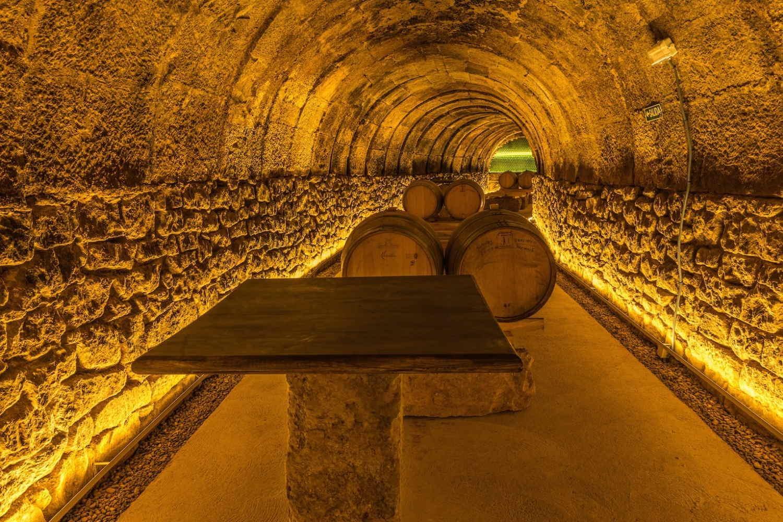 Calado subterráneo en bodegas Tritium, Cenicero