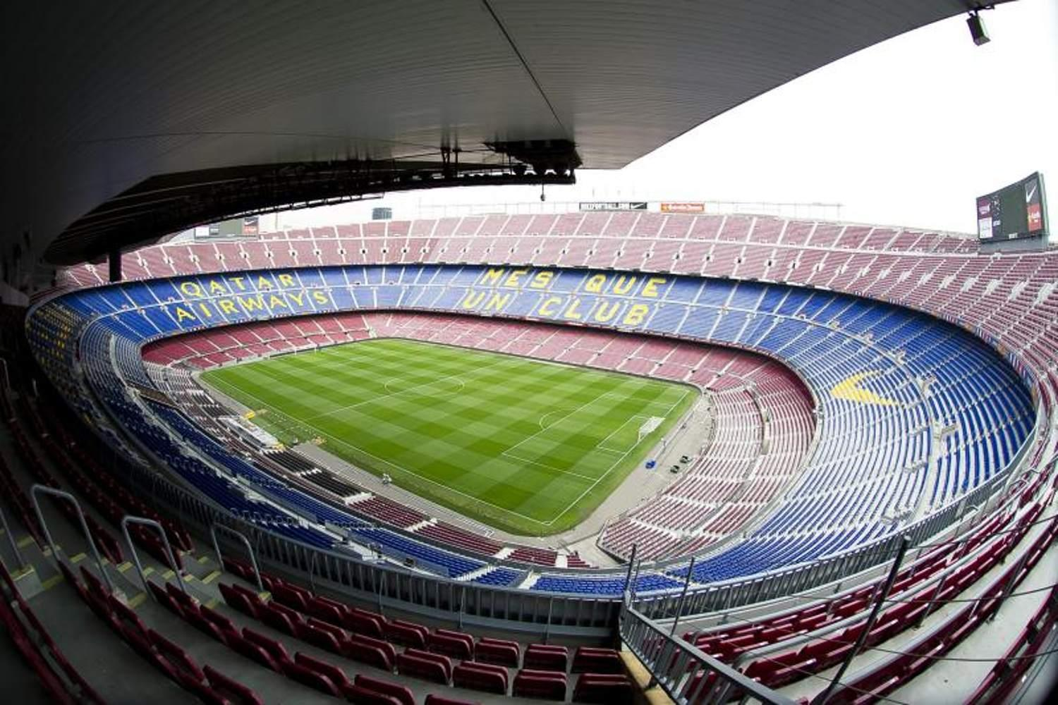 Panoramic view of Camp Nou