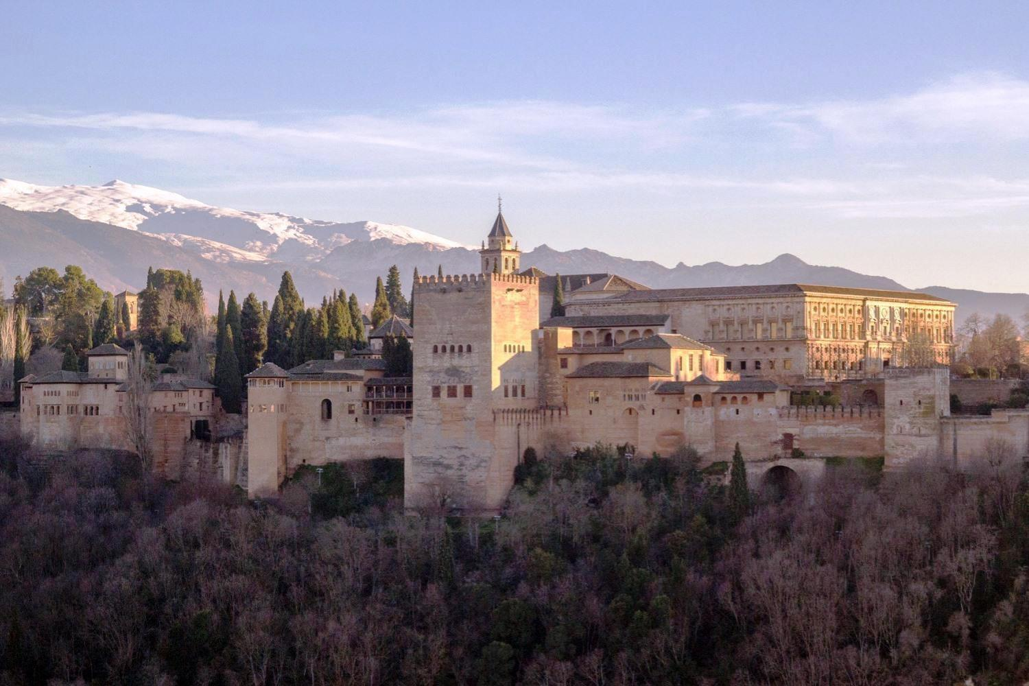panoramic views of Granada and Alhambra during the tour
