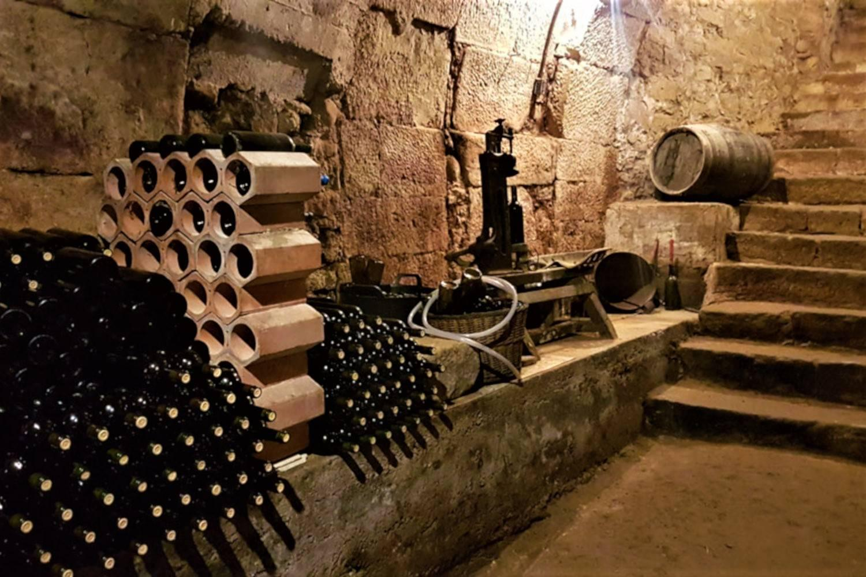 Rincón de una bodega durante una visita con guía turístico de Rioja