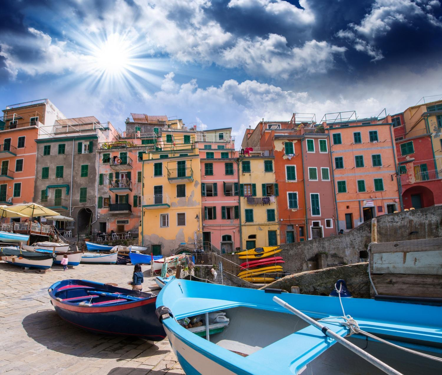 Our small group Cinque Terre Tours include a boat ride along the Cinque Terre Coast