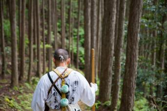 Walking with a Yamabushi ascetic monk