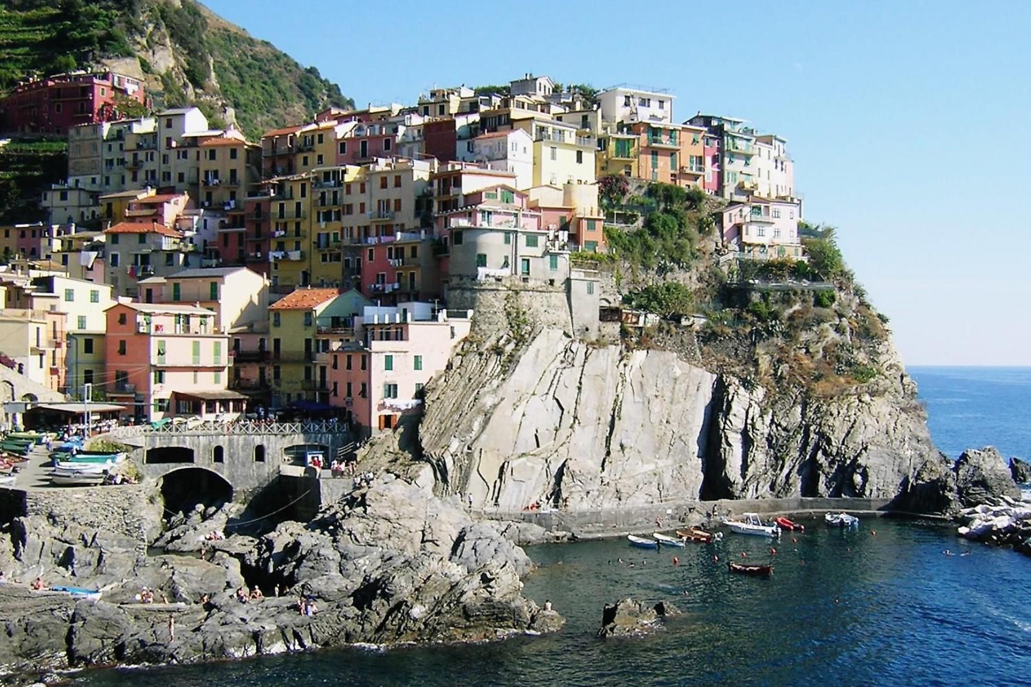 Cinque Terre region is filled with small cliff villages along the coast