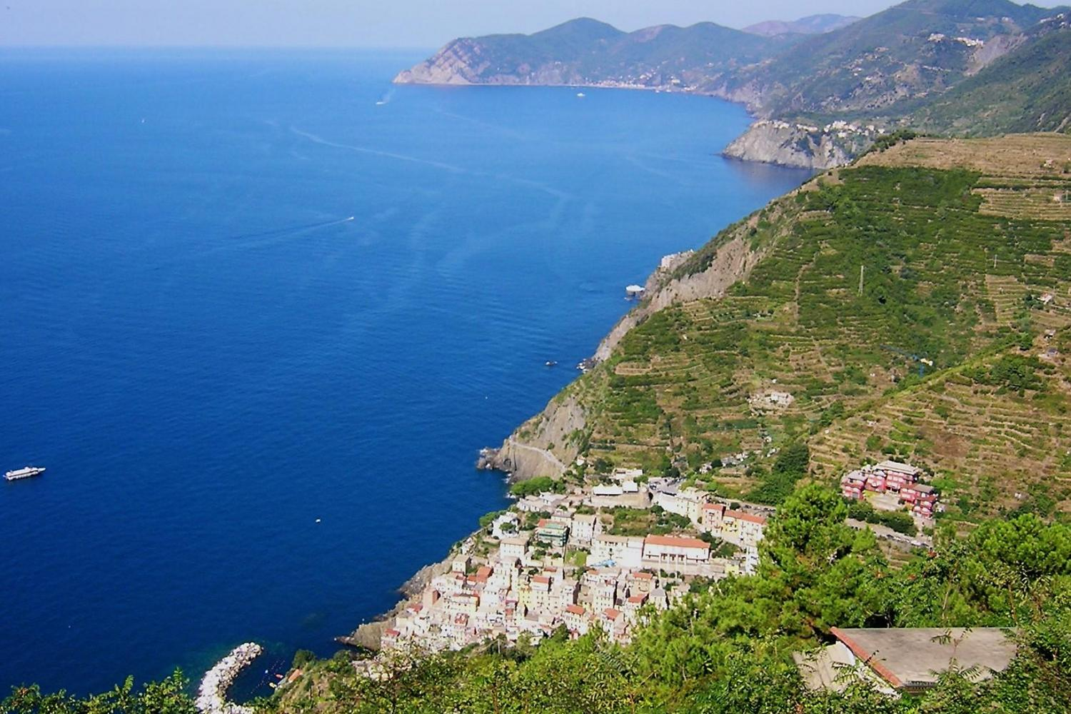 Incredible coast views throughout the Cinque Terre tour!