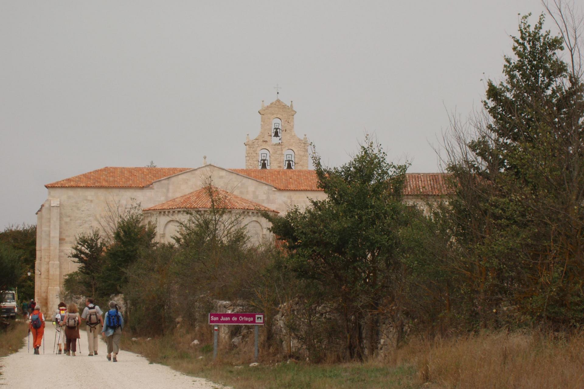 Hiking tour on the Camino de Santiago, Pilgrim Route, Spain