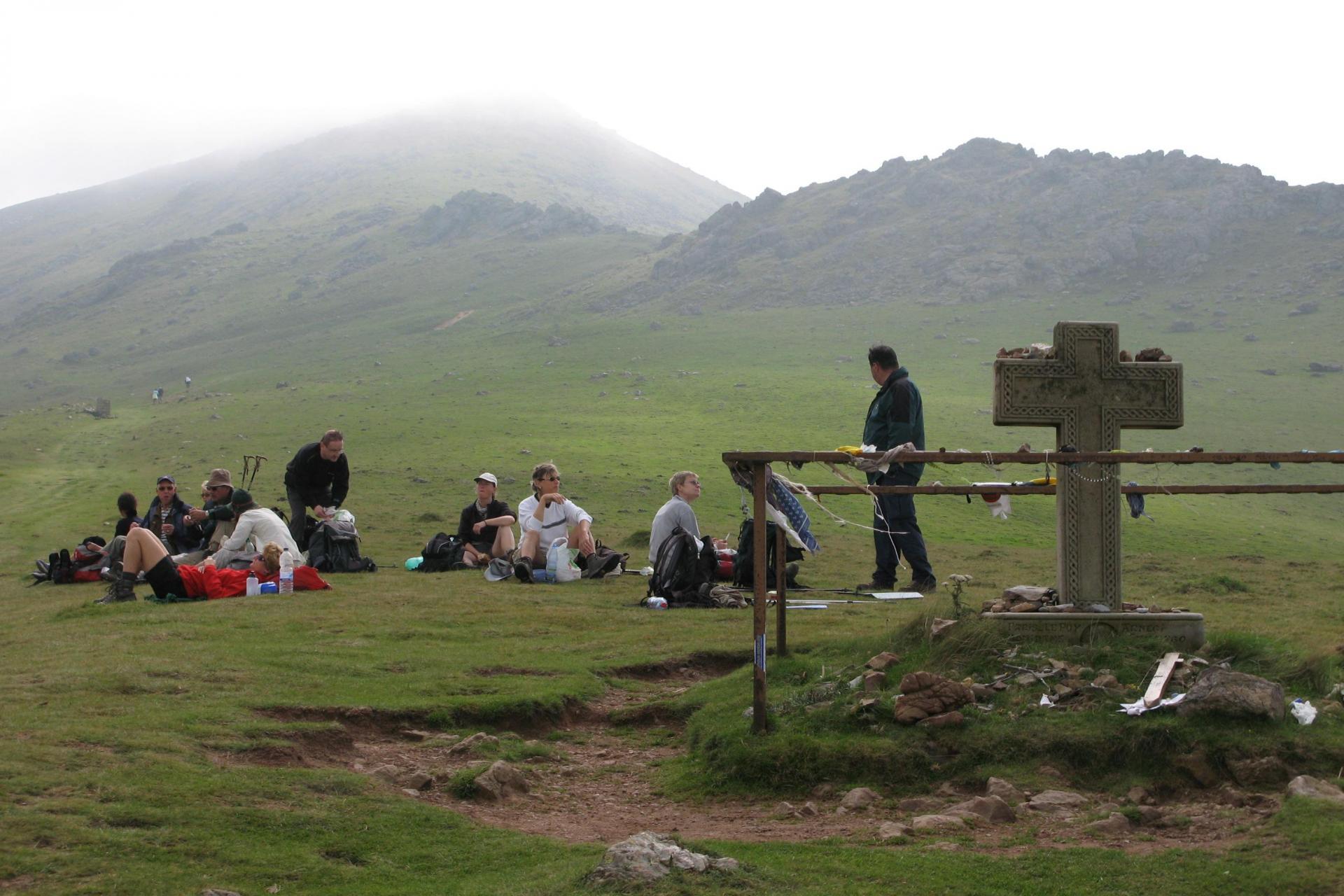 2bc43c31b919 Hiking tour on the Camino de Santiago, Pilgrim Route, Spain