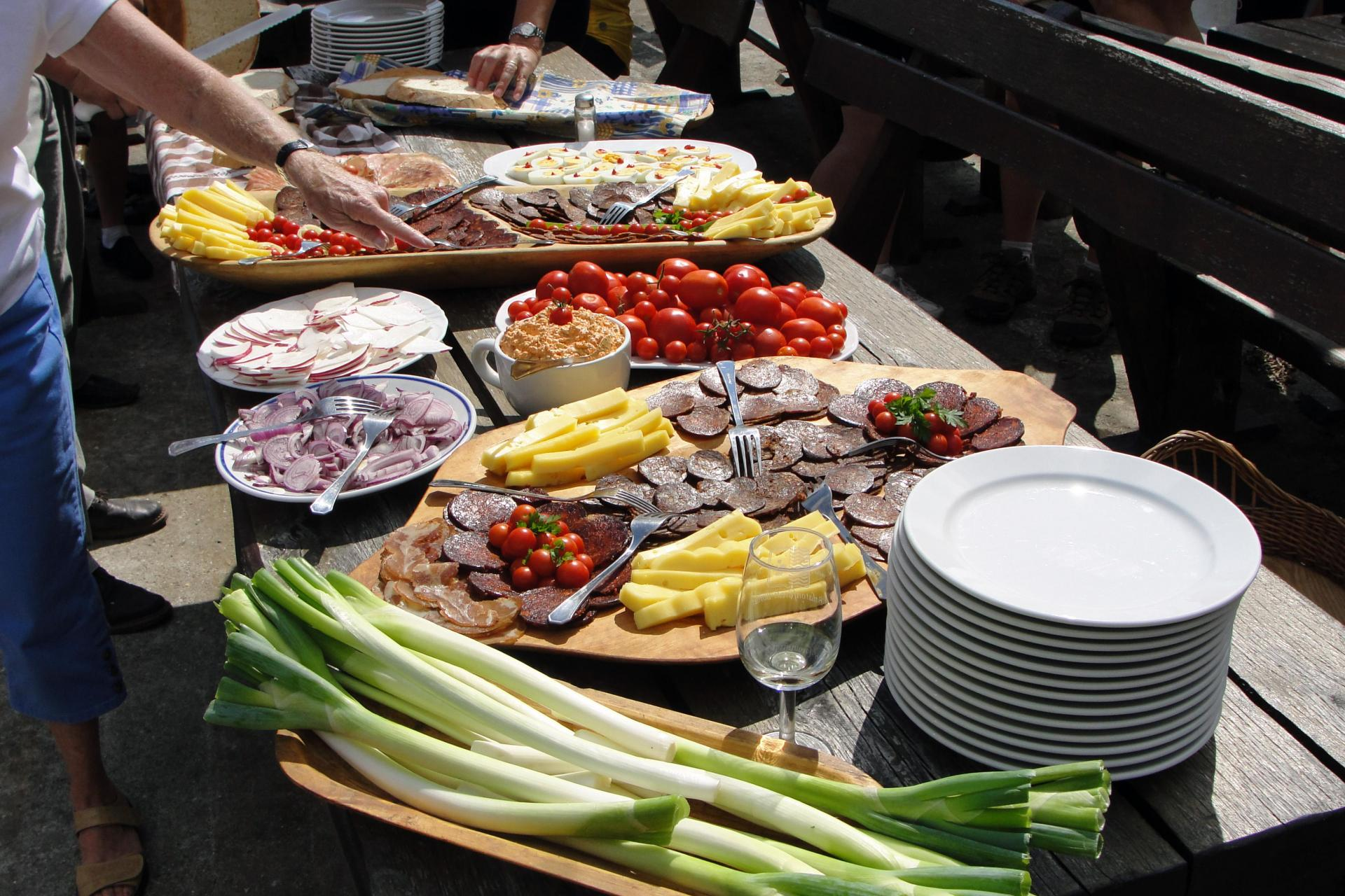 A Hungarian picnic lunch