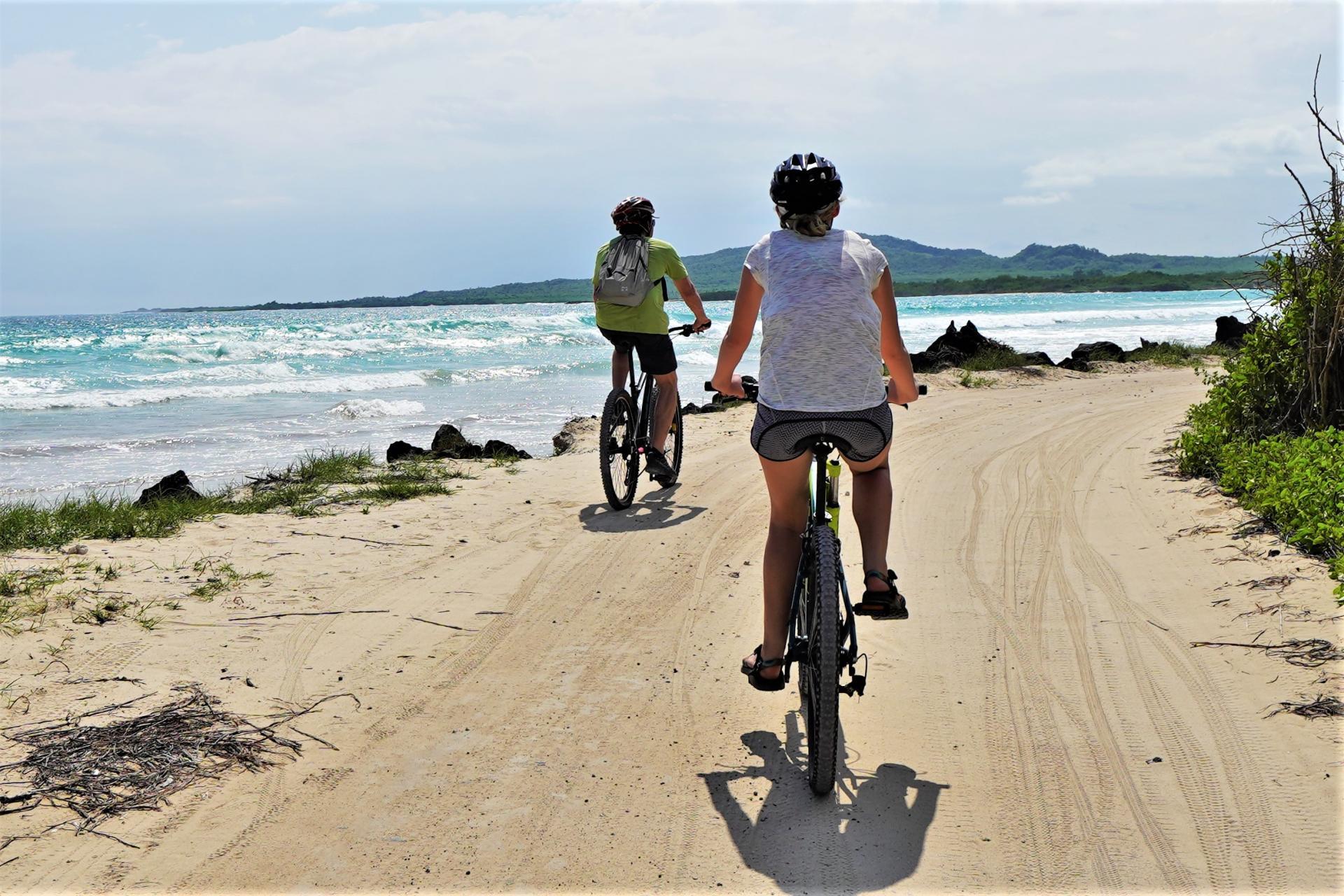 Shoreline biking in the Galapagos