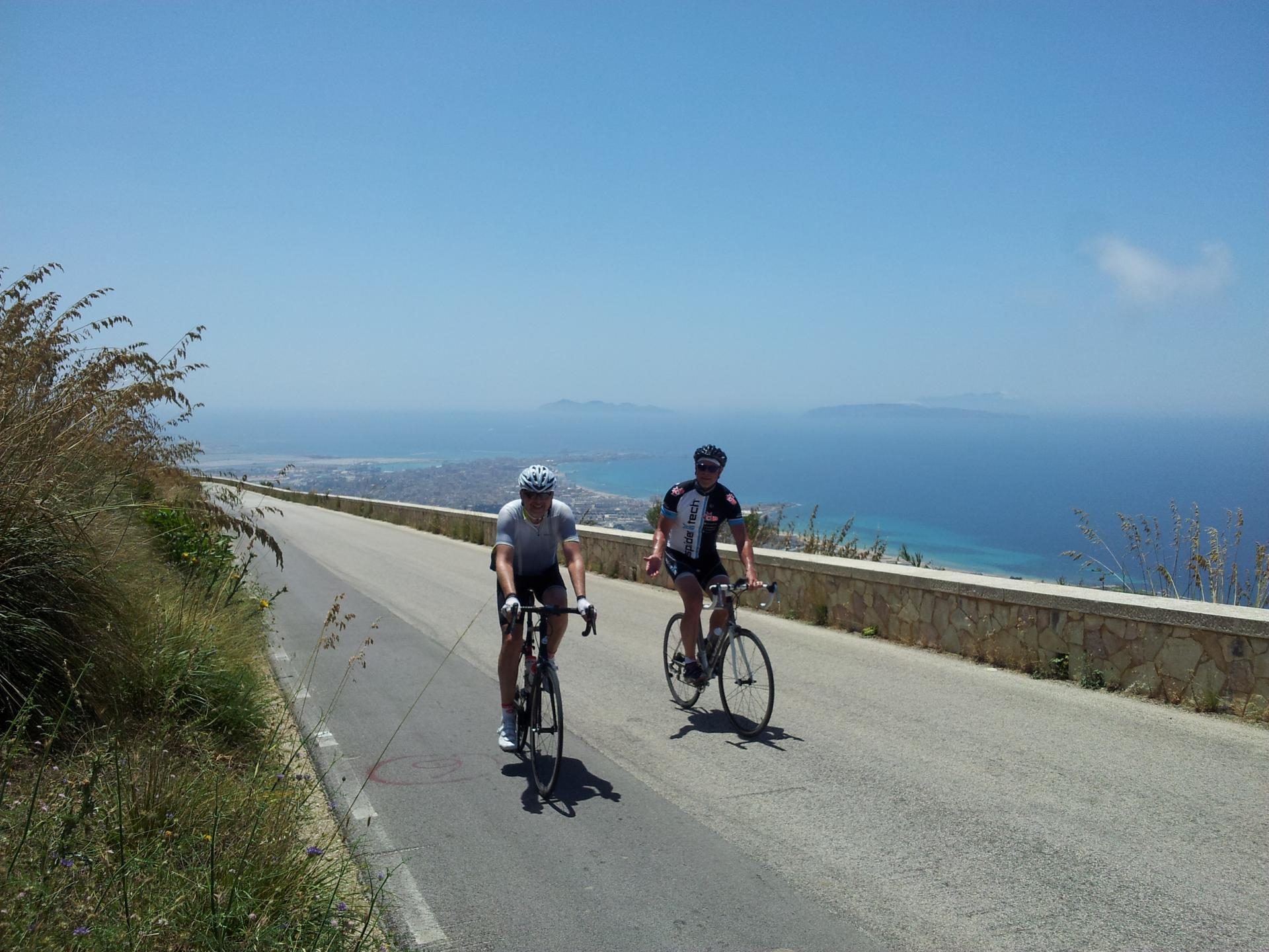 Cruising the coast of Sicily by bike! What could be better?!
