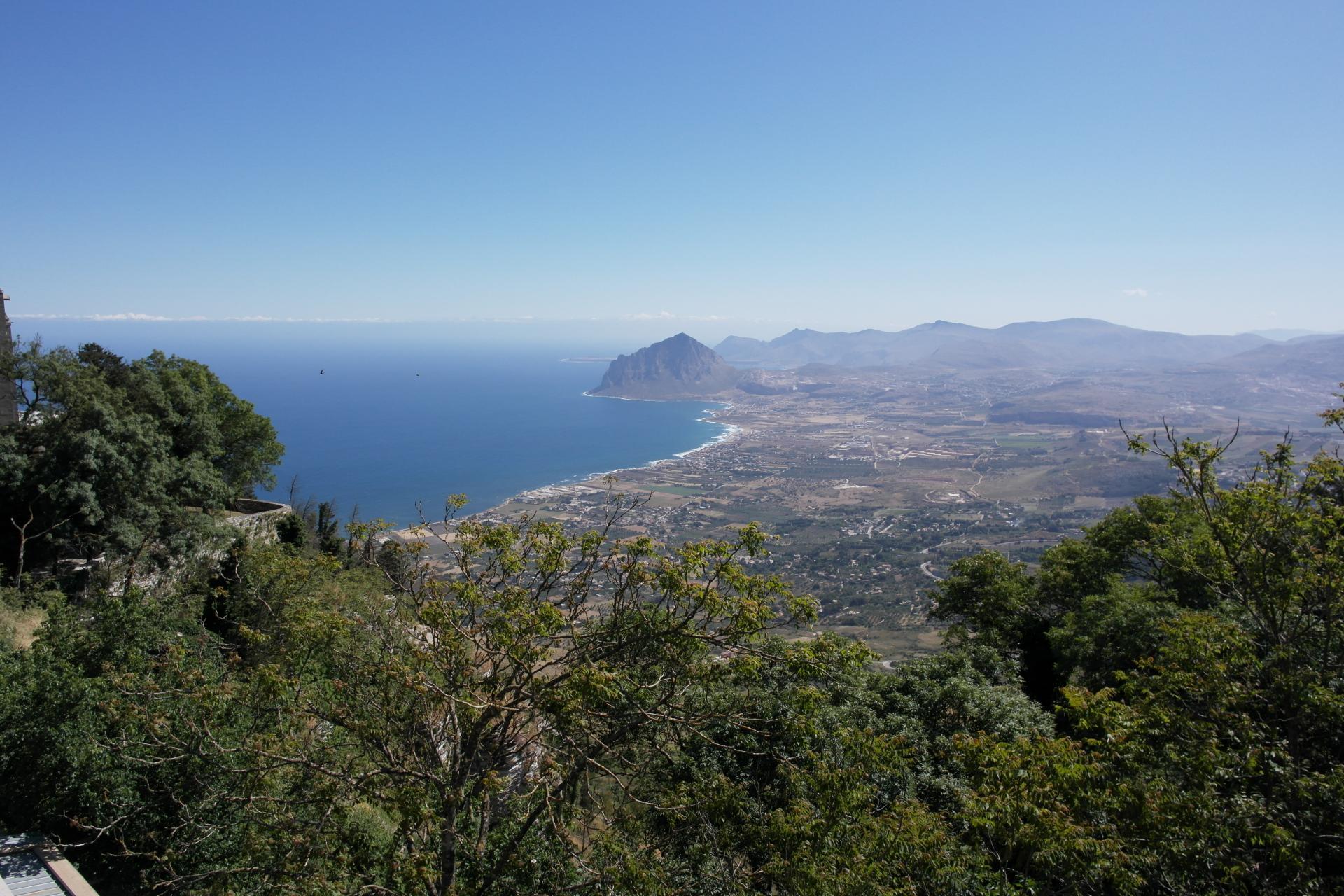 Breathtaking views at every turn while biking Sicily!