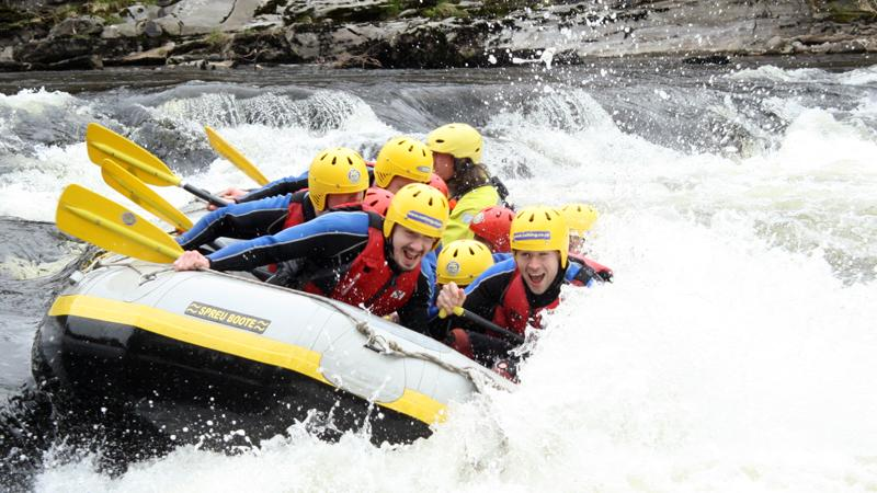 White water rafting on the River Tay with Splash