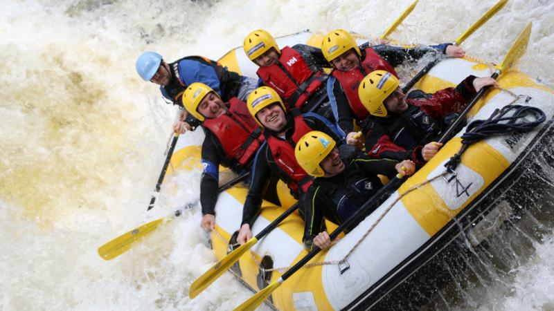 White water rafting on the River Tummel with Splash