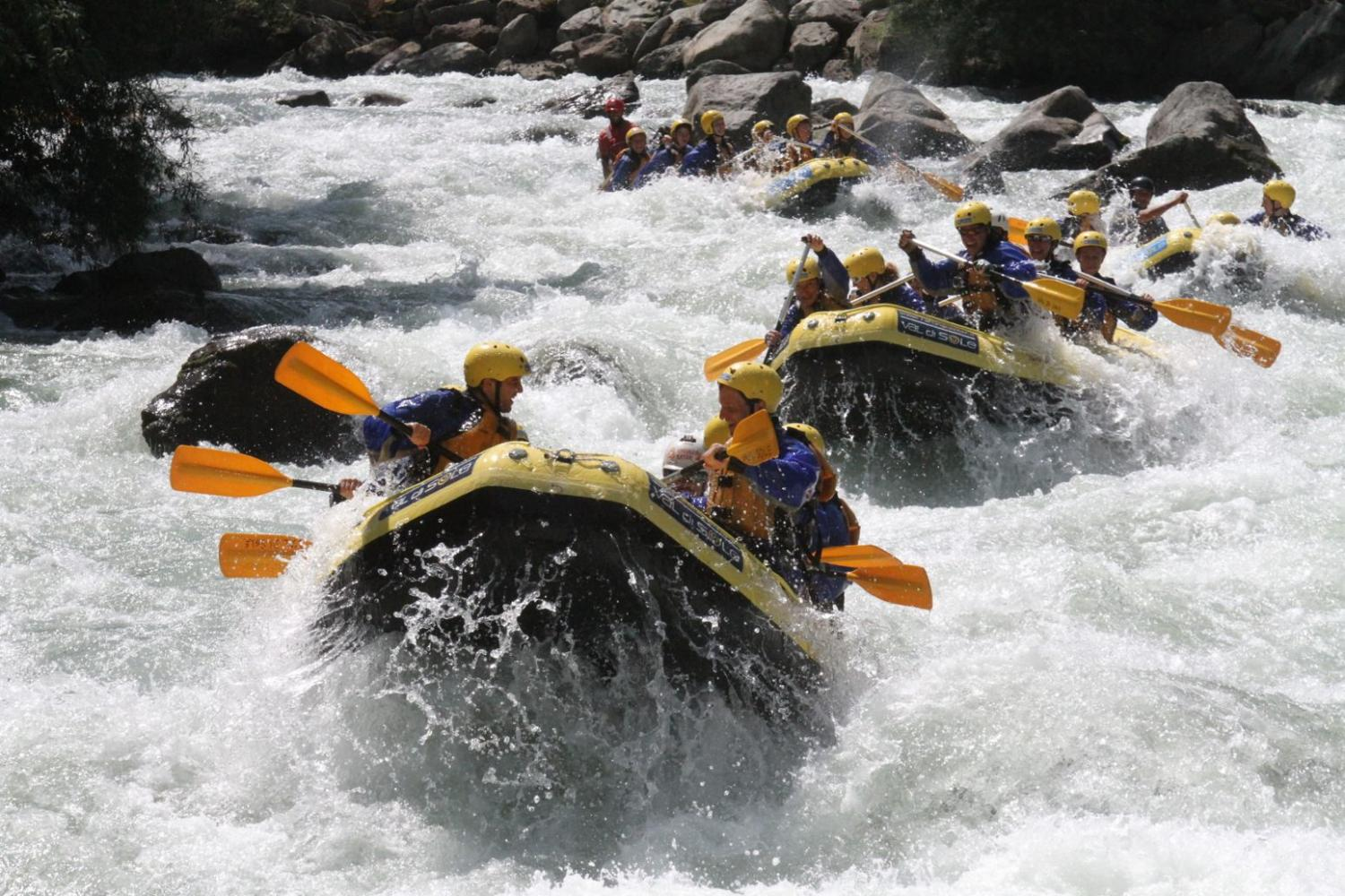group multi-activity holiday - white water rafting