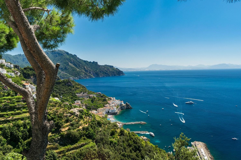 Amalfi coast sea view