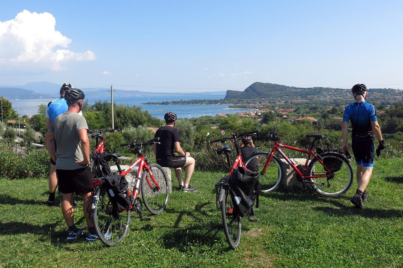 guided group cycling holiday Lake Garda